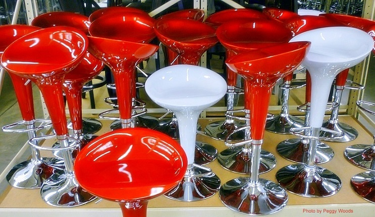 Eye Popping Colors For Bar Stools At Garden Ridge Pottery